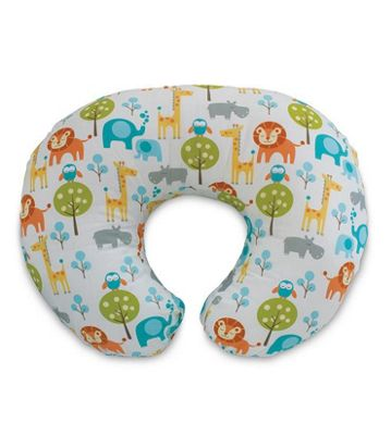 Boppy Pillow with Cotton Slipcover - Peaceful Jungle
