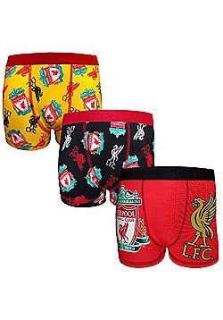 Liverpool FC Boys Boxer Shorts 3 Pack - Multi