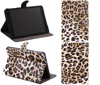 PadWear PU Leather Book Executive LuxFolio Brown Leopard Print Wallet Case With SMART TILT Stand For Apple iPad Mini Tablet (Wi-Fi and 3G)