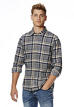 F&F Checked Flannel Shirt - Grey