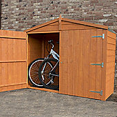 Bike Store Shed 7x3 in Overlap with Apex Roof by Finewood