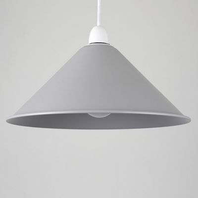 MiniSun Waywell Non Electric Tapered Metal LED Pendant Shade - Grey - ES E27