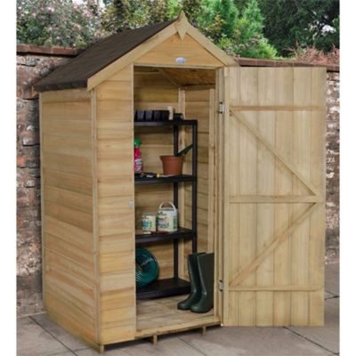 4 x 3 Rock Pressure Treated Overlap Apex Garden Shed 4ft x 3ft (1.22m x 0.91m)