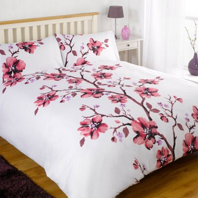 Collette Duvet Cover with Pillow Case Bedding Set Pink -Double