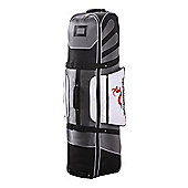 Woodworm Deluxe Golf Bag Travel Cover With Wheels Silver / Black