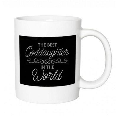 Thoughtful Ceramic 'The Best Goddaughter In The World' Black & White Mug