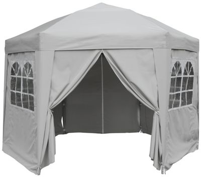 Airwave Hexagon Pop Up Gazebo Fully Waterproof 3.5m in Grey