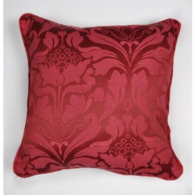 Fusion Eastbourne Burgundy Cushion Cover - 43x43cm
