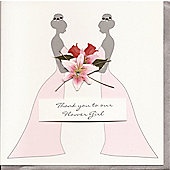 Crystal Lilly Flowergirl Card Wedding Thank You Card