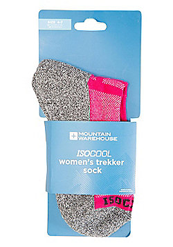 Mountain Warehouse Womens IsoCool Trekker Socks with Highly Breathable Fabric - Pink