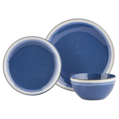 buy blue sahara stoneware 12 piece dinner set from our. Black Bedroom Furniture Sets. Home Design Ideas