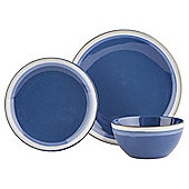 Blue Sahara Stoneware 12 Piece Dinner Set