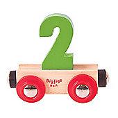 Bigjigs Rail Rail Name Number 2 (Green)
