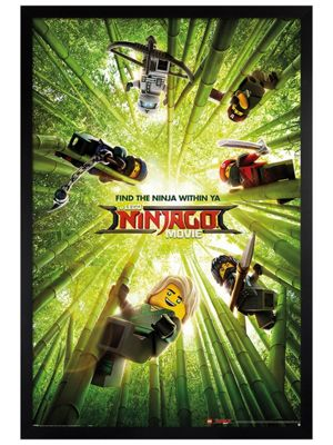 LEGO® Ninjago Movie Black Wooden Framed Bamboo Poster 61 x 91.5cm