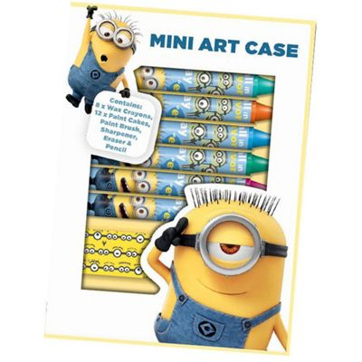 Despicable Me Minions Mini Art Case 24 pc Colouring Set Stationery