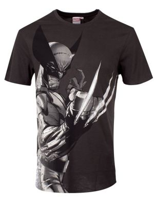 Marvel Wolverine Profile Grey Men's T-shirt