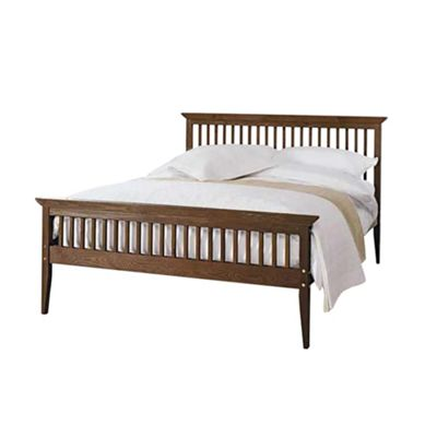 Comfy Living 5ft King Shaker Style Wooden Bed Frame in Chocolate