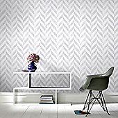 Superfresco Easy Paste The Wall Italie Geometric Silver Wallpaper