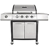 Charles Bentley Premium Grey 4 Burner Gas BBQ with side burner