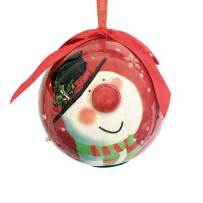 Straits Novelty LED Bauble 10cm, Snowman