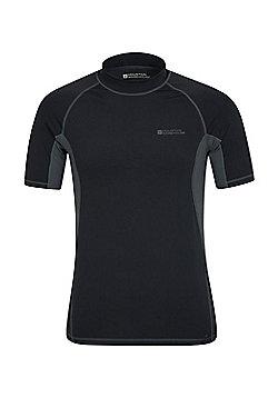 Mountain Warehouse Mens Rash Vest UPF50+ Sun Protection Factor 50+ Treatment - Black