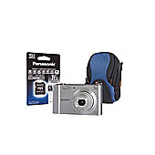 Sony DSC-W800 Silver Camera Kit 16GB MicroSD, Adapter, Lowepro All Weather Case