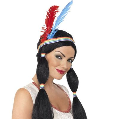 Smiffy's - Indian Princess Wig - Black