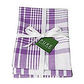 Now Designs Colour Centre Jumbo Teatowels, Purple, Set of 3