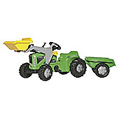 Rolly Kiddy Futura Tractor with Frontloader & Trailer