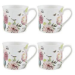 Bella Fine China Mugs 4pk