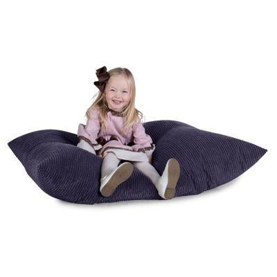 Lounge Pug® Junior Childrens Beanbag - Pom Pom Purple