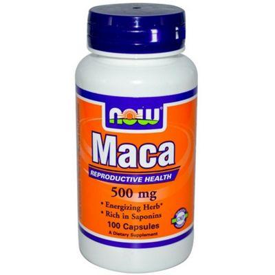 Now Maca 500 mg 100 Capsules