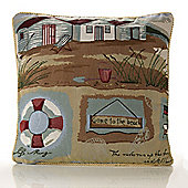 Alan Symonds Tapestry Gone To Beach Cushion Cover - 45x45cm
