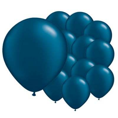 Midnight Blue 5 inch Pearl Latex Balloons - 100 Pack