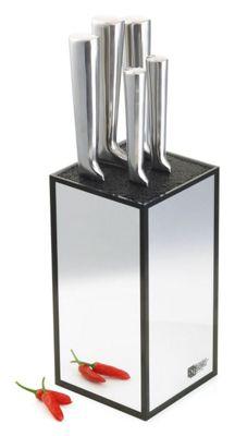 Richardson Sheffield Visage Mirror Stainless Steel 5 Piece Knife Block Set R17000K444K20