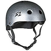 S1 Helmet Company Lifer Helmet - Silver Gloss Glitter (Small)