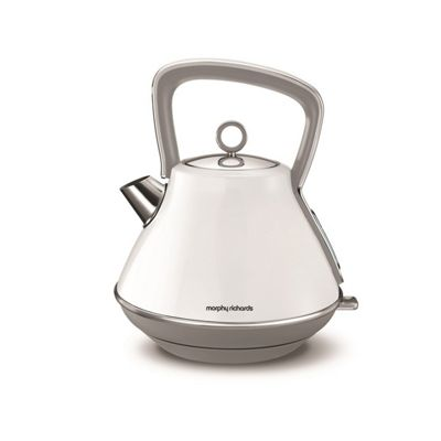 Morphy Richards-100109 Evoke Pyramid Kettle with 1.5 Litre Capacity and 3000W Power in White