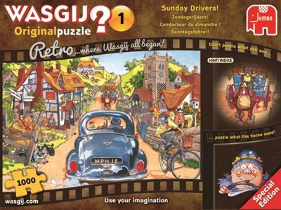 Wasgij Retro Original 1 'Sunday Drivers!' - 1000 Piece Jigsaw Puzzle