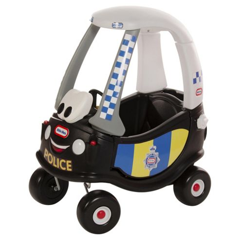Little Tikes Cozy Coupe Police Patrol Ride-On Car, Blue
