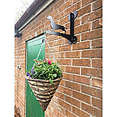 Made O' Metal Dachshund Hanging Basket Bracket