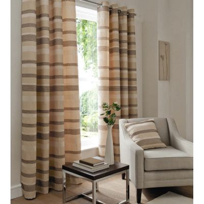 Catherine Lansfield Arlington fully lined eyelet curtains - 90x90