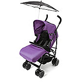 Your Baby-California Buggy/Pushchair-Purple-Incl Purple Footmuff/ Black Parasol.