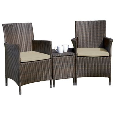 Rattan Garden Furniture Tesco buy royalcraft rattan companion seat, brown from our garden