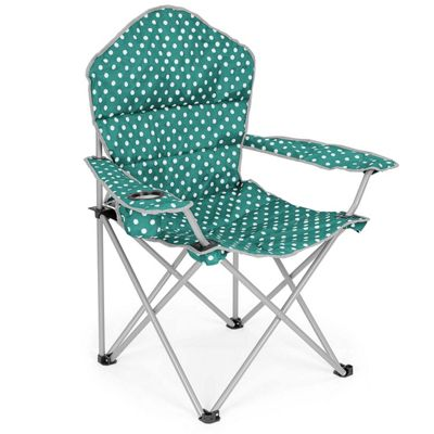 Trail Deluxe Polka Dot Folding Festival Chairs - Teal