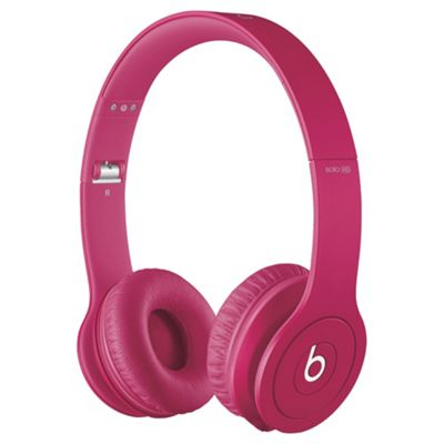 Beats By Dr Dre Solo HD Over-the-ear overhead headphones, Monochromatic Pink