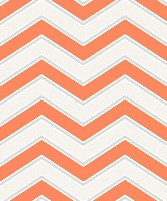 Coloroll Chevron Orange Wallpaper