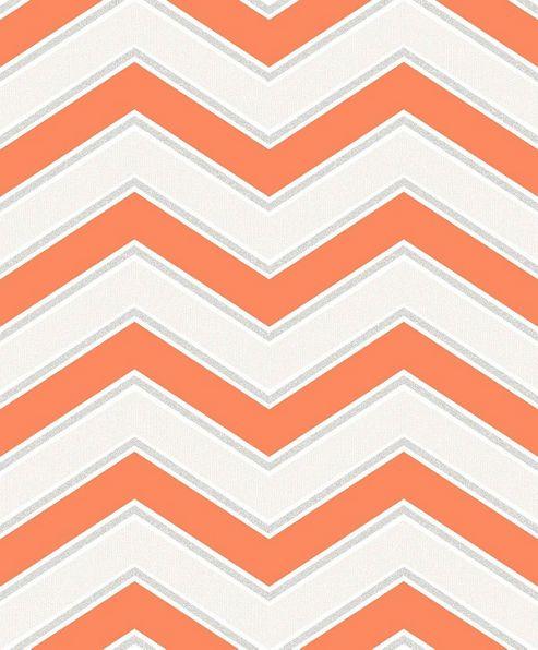 Coloroll Chevron Orange Wallpaper
