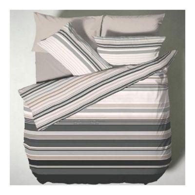 Catherine Lansfield Home Designer Collection Ross Stripe Single Bed Duvet Cover Set Black