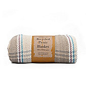 Country Club Recycled Cotton Picnic Blanket 120 x 150cm, Natural