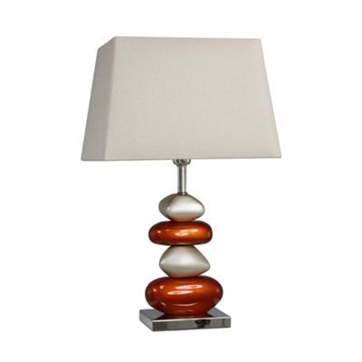 Pebble Table Lamp with two tone Champagne Shade